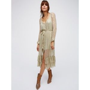 Free People Shine Maxi Shirt Dress